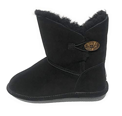 BEARPAW Women's Rosie Winter Boot, Black, 9 M US]()