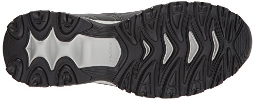 Skechers Sport Men's Afterburn M. Fit wonted Loafer,Navy/Gray,11.5 4E US