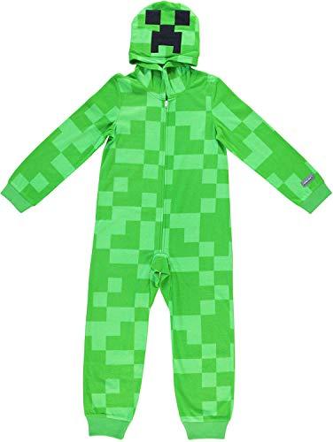Mojang Boys Minecraft Pajamas - Blanket Sleeper Without Footer Pajama Set (Green, 8)