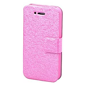 Silking Leather Case for iPhone 4/4S(Assorted Color) --- COLOR:Rose