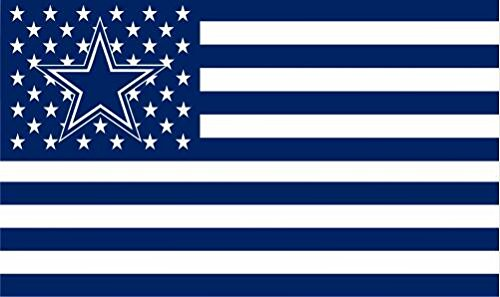 tars and Stripes Flag Banner - 3X5 FT - USA FLAG (Dallas Cowboys Fan Banner)