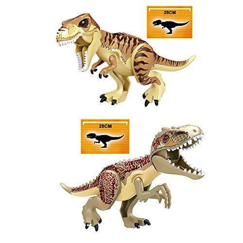 yaning 2Pcs/Set Jurassic World Dino Figures Indoraptor indominus rex Tyrannosaurs Rex Building Blocks Compatible with Lego Dinosaur Toy -  LXB-KL018-wood