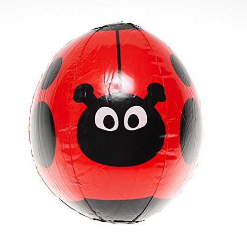 1pc - Inflatable Ladybug Beach Ball, Size 9 inch ()