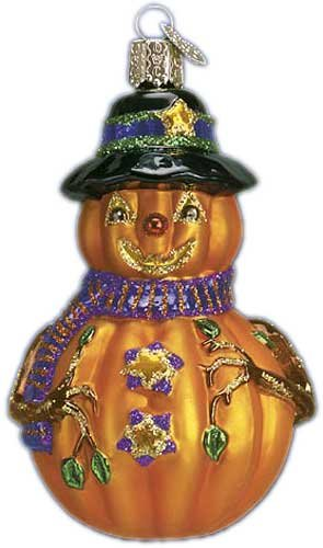 (Old World Christmas MR. MISTER JACK O'LANTERN Blown Glass Ornament Mercks)