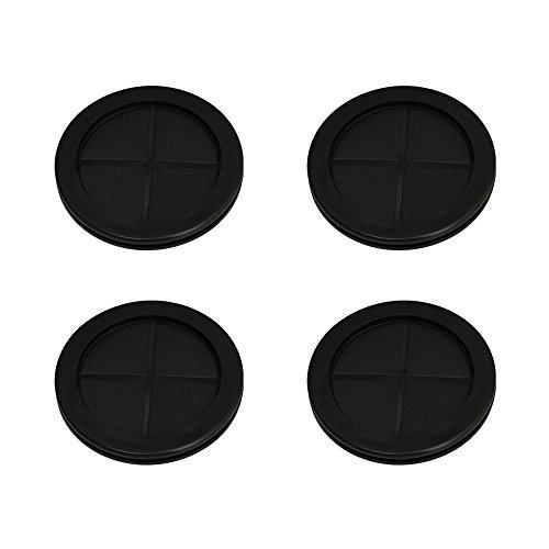 BQLZR 80mm Schwarz Runde Form doppelseitige Geschlossene Leere Gummi ...