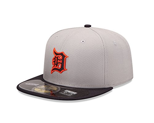 MLB Detroit Tigers Men's Authentic Diamond Era 59FIFTY Fitted Cap, 814, Gray