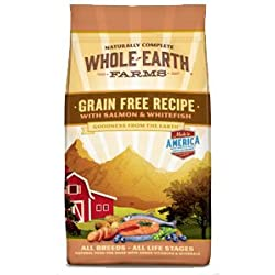 Whole Earth Farms Grain Free Salmon and Whitefish Recipe Dry Dog Food 12lb
