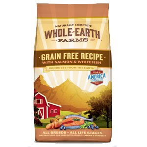 Whole Earth Farms Grain Free Salmon and Whitefish Recipe Dry Dog Food 12lb For Sale