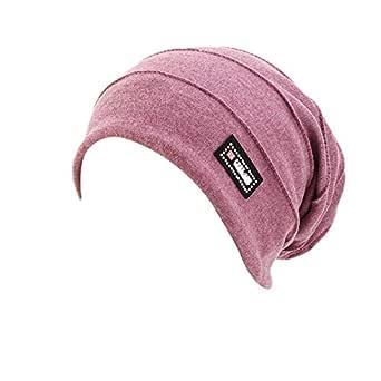 New Women's Cotton Flower Elastic Turban Beanie Chemo Cap Hair Loss Hat (Light Purple)