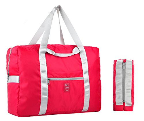 Vercord Premium Travel Foldable Storage Carry On Luggage Duffel Organize Bag, Red
