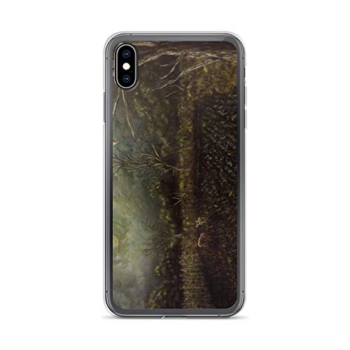 iPhone Xs Max Case Anti-Scratch Creature Animal Transparent Cases Cover in an Eerie Night A Barred Owl Perched On A Dead Oak T Animals Fauna Crystal Clear]()
