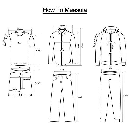 Tees T Courtes Hommes shirt Col 3d Fit Bleu Slim Amlaiworld Manches Top Occasionnel Imprimé Rond Graphique f68dwEExq