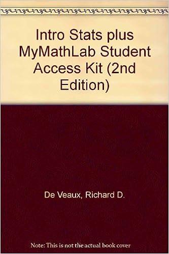 Amazon Intro Stats Plus Mymathlab Student Access Kit 2nd