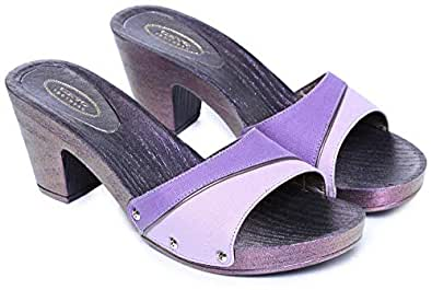 Ceyo Purple Heel Sandal For Women
