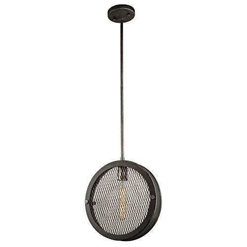 Riverside Ceiling Fan (Artcraft Lighting Artcraft AC10830GB Riverside 1-Light Pendant, Granite Black & Vintage Brass 1, Granite Black and Vintage Brass)