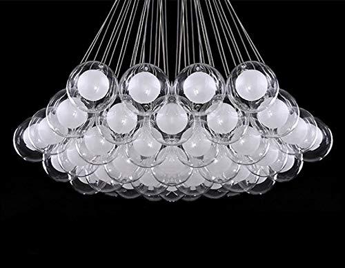 FidgetGear Modern Glass Ball Bubble LED Pendant Lamp Chandelier Ceiling Lights with G4 Bulb Cool White 15 Heads by FidgetGear (Image #9)