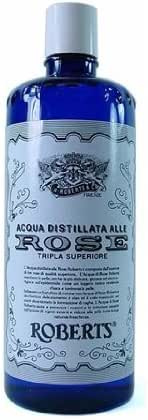 3 Bottles of Manetti Roberts Acqua Distillate Alle Rose (Distilled Rose Water) 300 Ml, 10 Fl Oz