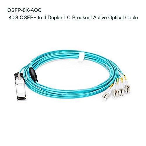 15m (49ft) Cisco QSFP-8LC-AOC15M Compatible 40G QSFP+ to 4 Duplex LC Breakout Active Optical Cable - NETCNA by NETCNA