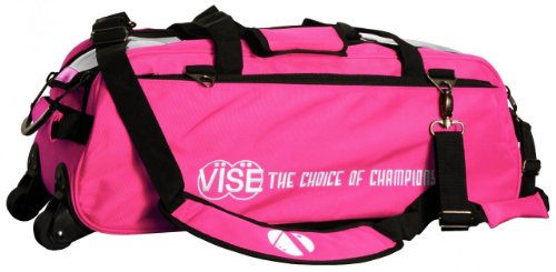 Vise Three Ball Tote Roller Bowling Bag, Pink for sale  Delivered anywhere in USA