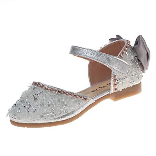 Kukiwa 프린세스 구두 아동 샌들 반짝이 리본 해변 샌들 무지 아동 신발 슬리퍼 아동 통 학 예쁜 여자 미끄럼 방지 신고 벗고 편한 여자 드레스 신발 여행 선물 방문 / Kukiwa Princess Shoes Kids Sandals Glitter Butterfly Knot Flip Flops Plain...