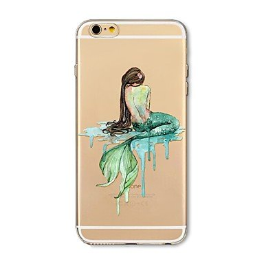 Case-for-iPhone-7-Plus-7-Cover-Transparent-Pattern-Back-Cover-Case-Cartoon-Mermaid-Soft-TPU-for-Apple-iPhone-6s-plus-6-Plus-6s-6-SE-5s-5c-5-4s-4