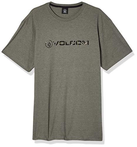 Volcom Camiseta Silk Mc New Style Masculino, G, Mescla Verde