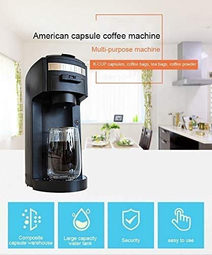 Qinmo Machine à café glacé, Simple Servir K Tasse à café Brewer Design Compact instantané Goutte à Goutte Thermique Machine à café avec Fonction Auto-nettoyante