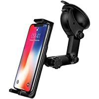 Ringke [Monster Car Mount] [Black] with Universal Strong Washable Suction Pad Grip Holder Smartphone Dashboard for iPhone, Android, Samsung Galaxy, LG, GPS Devices, Google Car Phone Holder Accessory