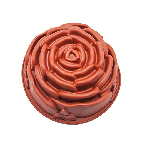 Bundt Decorating Cake (Rose Shape Cake Pan Silicone Cake Mold Baking Pan Non-stick Bakeware Bread Bundt Pan Homemade Cake Decorating Tools for Cake, Miffin, Pie, Meatloaf, Bread)