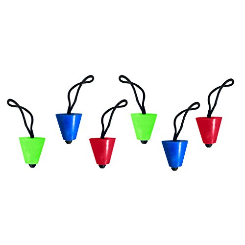 6 Pack Universal Kayak Scupper Plugs Kit - 2 Neon, 2 Blue, 2 Red (Fit: Emotion Kayaks, Native, Wilderness Systems, Feelfree Kayaks, Perception Kayaks, Old Town Kayaks, plus all other major brands)