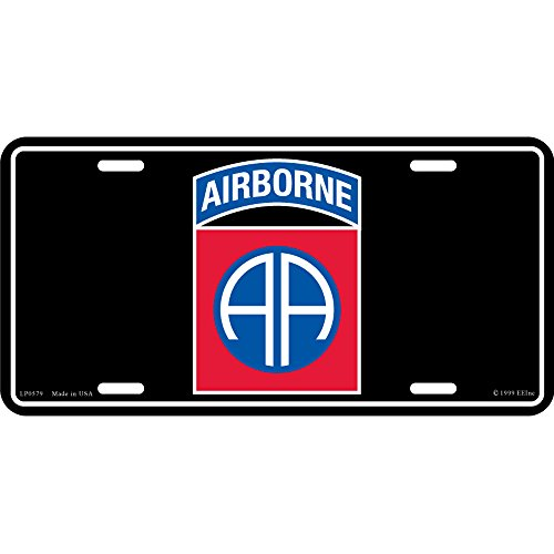 (US Army 82nd Airborne Division License Plate )