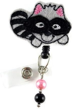 Stethoscope Pink Heart Retractable ID Badge Holder-Name Badge Holder-Nurses Badge-Badge Clip-Badge Reels-Pediatric-RN-Nursing Badge Holder