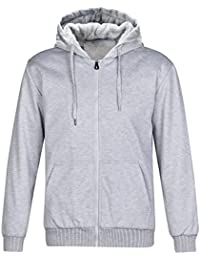 Hoodies for Men / Full Zip Casual Active Fleece Sweatshirt with Kangaroo Pocket