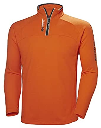 Helly Hansen Men's Hydropower Quick Dry 1/2 Zip Double Knit Pullover, 226 Bright Orange, Small