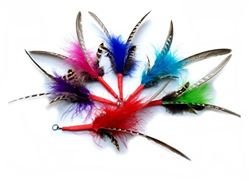 Purrs Spinning Feather Attachment 3 Pack: Da Bird Handmade Refills