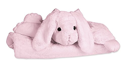Bearington Baby Pink Bunny Belly Blanket, Tummy Time Mat 30