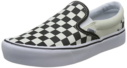 white White Black Lite Checkerboard Black On Slip Vans Trainers 0OW8xB1Wn