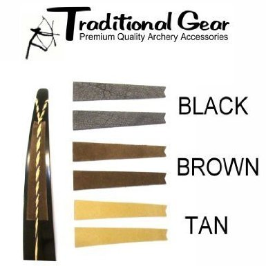 Traditional Archery - Recurve Bow Bowstring Groove Silencers - (Available in 3 Colors) (BROWN)