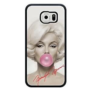 Galaxy S6 Case, Customized Marilyn Monroe Black Soft