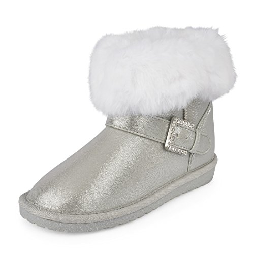 The Children's Place Girls' Fashion Boot, Silver-Boot-2, Youth 11 M US Little Kid by The Children's Place (Image #1)