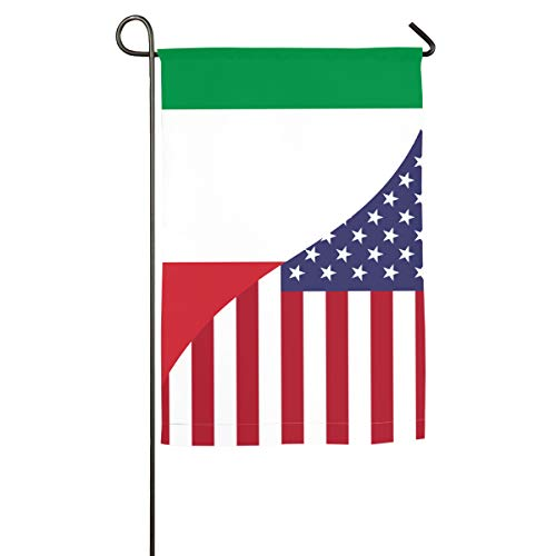 Home Flag Italian USA Friendship Flag Inspirational Translucent Polyester Flag Indoor