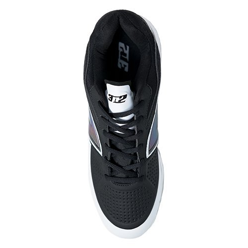 3n2 Mens Lo-pro Metall Cleat, Svart, Storlek 14