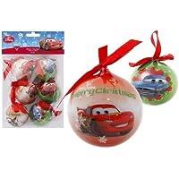 Pack Bolas Decoración Navideña Modelos Surtidos, DISNEY, -CARS-