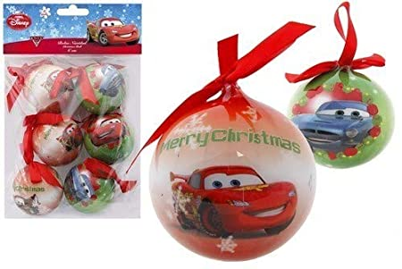 Disney Cars Christmas Decorations.Disney S Cars Christmas Baubles Set Of 6 Christmas Tree Decoration Diameter 6cm By Lag3