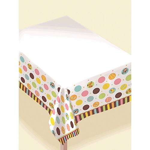 Adorable Fisher Price  Baby Shower Party Polka dot Table Cover, Plastic, 54