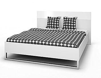 Froschkönig24 Bettgestell Style Bett 160 x 200 cm Weiß ...
