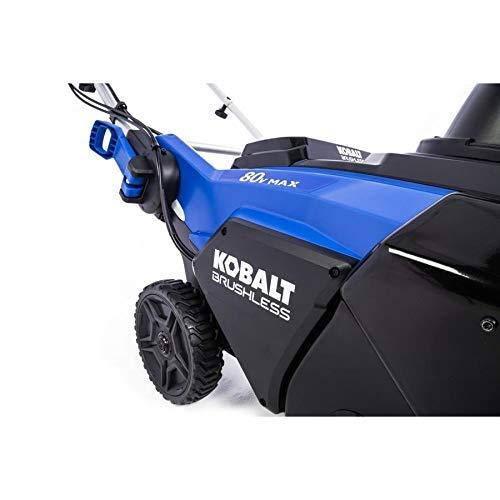 kobalt snow blower 80v review
