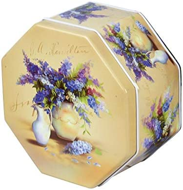 Contenedor de Latas de Té Retro Caja de Embalaje Grande de la hojalata del Chocolate de la Galleta de Caramelo Octagonal Caja de Embalaje de la hojalata (florero): Amazon.es: Hogar