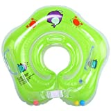 Inflatable Baby Neck Swimming/Bath Float (Green)