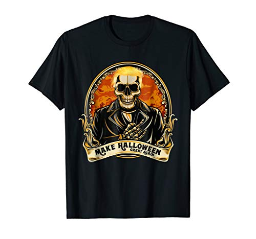 Make Halloween great again Vintage Skull T-Shirt Trump Hair -